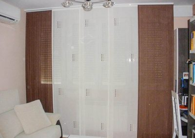 Panel japones blanco y marron
