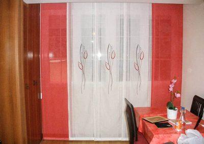 Paneles japoneses blanco y rojo