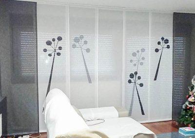 Paneles japoneses gris y blanco